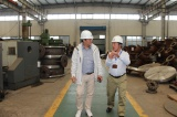 Customer from Korea visit Henan Quanshun Flow Control Science & Technology Co.,Ltd