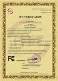 FCC Certificate of 3D Printer