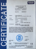 Certification of Conformity (CE)