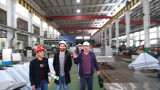 customers checking our factory in Shanghai
