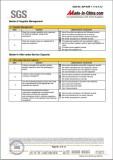 SGS Report Summary