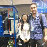 CBFI professional sales manager enthusiastically invited customer to visit the machine