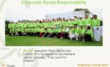 "Rocago sponsored ′Stars Charity Golf Contest 2013"" in support of the mainland charity campaign,"