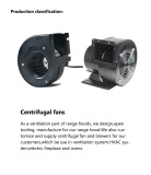 Production classification--Centrifugal fans