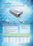 Rainproof LED power supply with CE