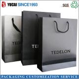 Luxury black paper packaging bag