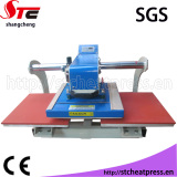 Automatic pneumatic upper glide pneumatic double station heat press machine