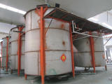 There are six sets Solution storage container of sulphuric acid