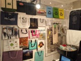 picture of our booth in N.Y. USA (various kind of shopping bag)