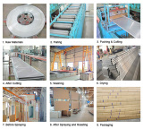Production process of aluminum strip ceiling