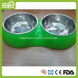 Double Pet Bowl Dog Feeding Bowl