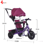 Luxury baby tricycle /children tricycle /kids tricycle trike three wheel tricycles steel frame CE ap