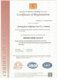 CERTIFICATE OF REGISTRATION ISO9001:2008