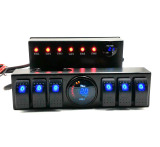 Jeep Wrangler Jk 6-Switch Panel with Control and Source System Relay Box Assemblies for Jeep Jk & Jk