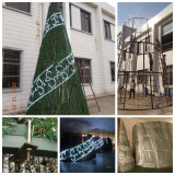 Outdoor 8M Giant Spiral Christmas Tree