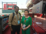 Joanna and customer from Kenya