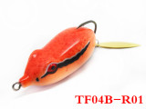 Soft body frog lure double hook fishing lure