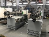 Two Set Conical Twin Screw Extruder Ready Shipped to Turkey