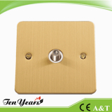 SATELITE WALL SOCKET with SATIN BRASS