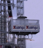 XMT Construction Elevator with big cage in Sri Lanka