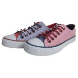 Lovely Pink/Blue Canvas Shoes From China Footwear Supplier with Lace