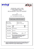 Test Report For energy saving lamp