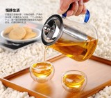 glass tea set with filter