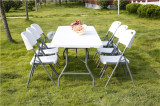6ft folding table and chair set