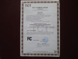 FCC certificate for unicycle