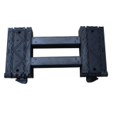 Portable folded ladder