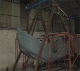 workshop-structure of the pirate boat