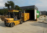 Diesel Generator In Loading Container