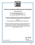 AAMA certificate