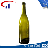 High Brown White Glass Bottle with Frosting and Decal