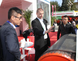 German clients visiting pulley at Beijing trade