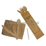 Eco-friendly Wooden Disposable Cutlery Kit
