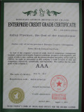 Enterprise Credit Grade Certificate