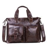 top layer leather oiled waxing leather fashion diagonal laptop handbag
