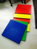 Surface dyed rubber pavers