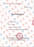 test report for anti riot suit