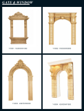 Sandstone Entrance Door Frame Sculpture Honed Pedestals