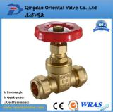 Brass gate valve with Clamps