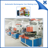 Automatic rectangular can making machine production line