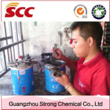 our customer mixing colour of car paint