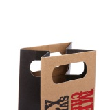 Die cut handle - kraft paper bag