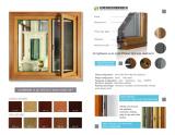 aluminum wood cladding sreen window