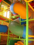 indoor playground real case tube slide