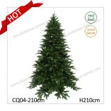 Lake Shore Blue Green Tree 7FT PE Artificial Christmas Tree with Good Price Cqj04-210