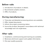 our service of before-sale and after-sale