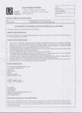 LR Certificate of Ship Decoration Panels